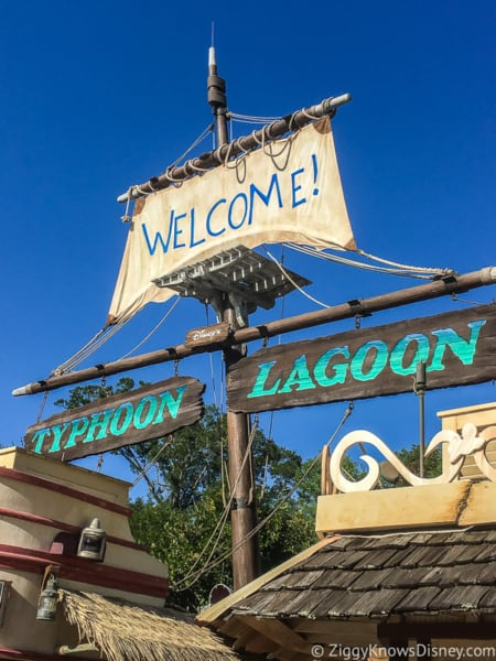 Typhoon Lagoon welcome sign at entrance