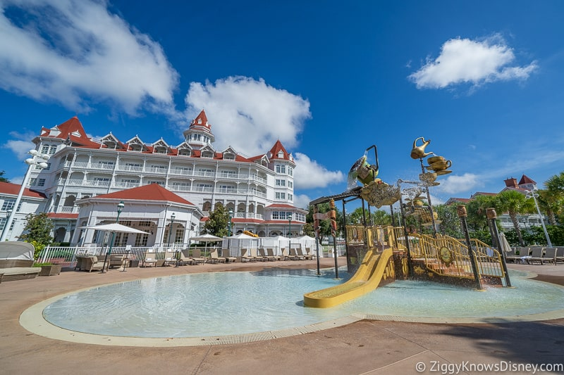 Grand Floridian Resort outside pool and slide