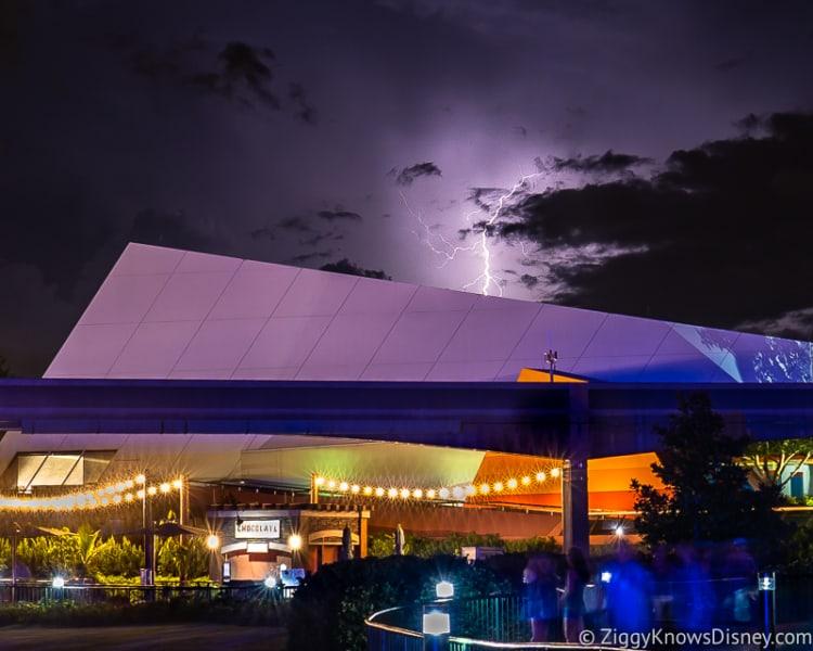 Lightning bolt in Epcot