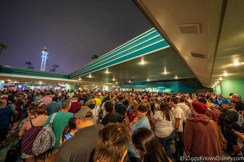 big crowds outside Hollywood Studios Disney World Safe