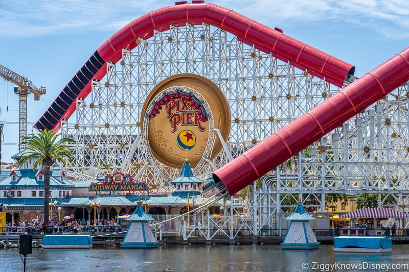 Incredicoaster in Pixar Pier Disney California Adventure