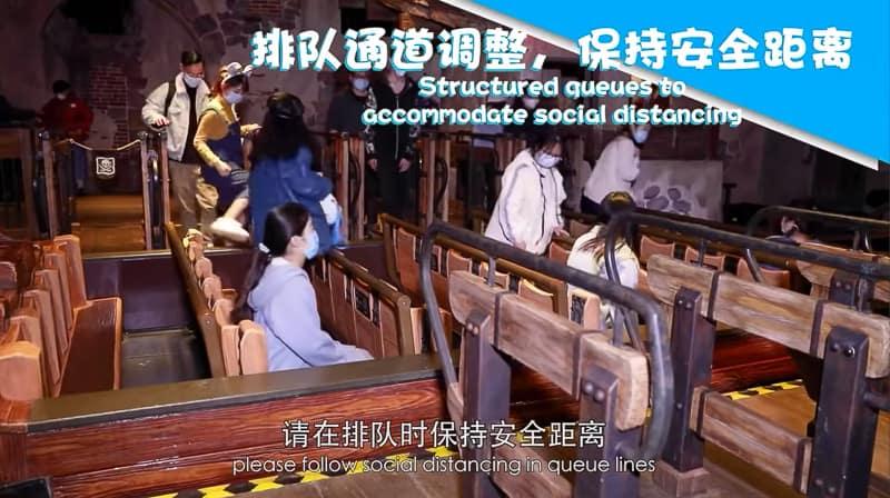 keeping distances on attractions in Shanghai Disneyland