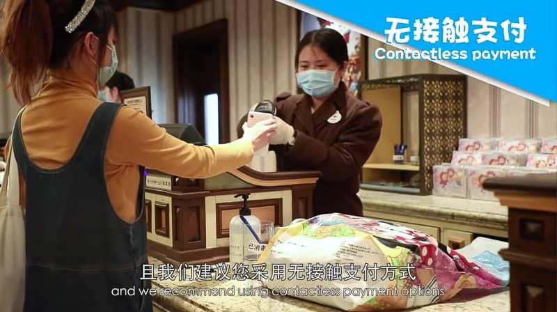 Paying for merchandise Shanghai Disneyland Reopening Procedures