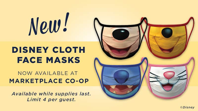 Disney Character Face Masks in Disney Springs
