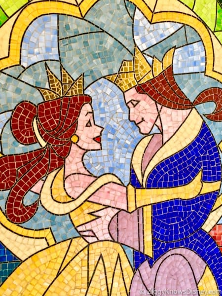 Beauty and The Beast mosaic mural