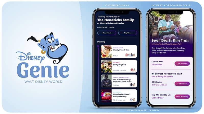 Disney Genie vacation planning app