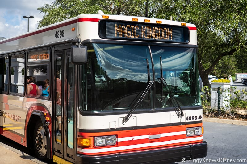 park hopping on a bus to Magic Kingdom