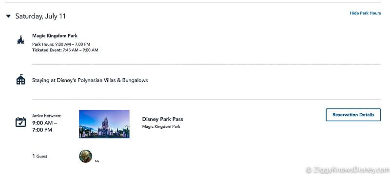 Check Disney Park Pass Reservations Screenshots