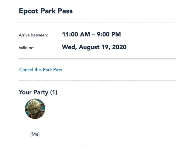 Cancel Disney Park Pass Reservations first step