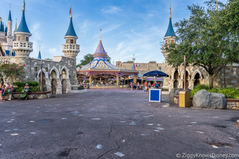 empty Magic Kingdom Park