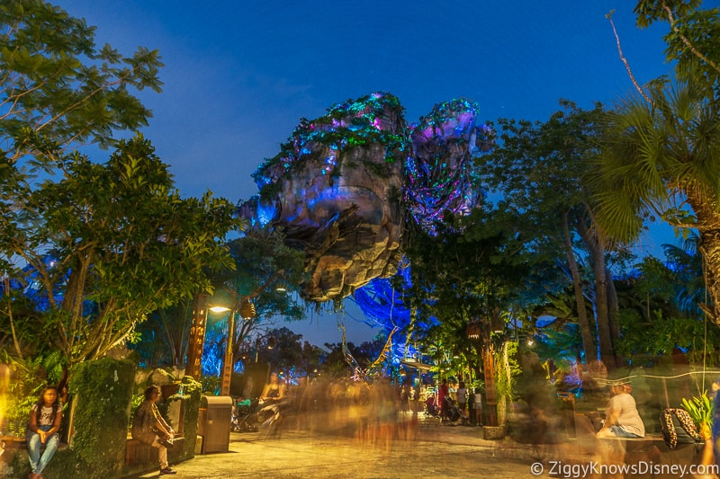 Floating Mountains of Pandora at night