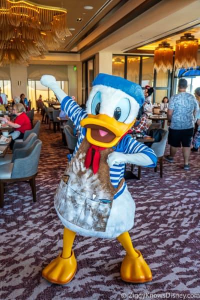 Donald Duck at Disney Riviera Resort Character Breakfast