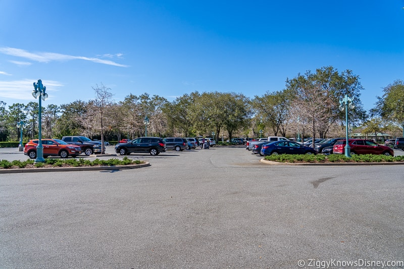 Parking lot at Disney World Resort Hotels