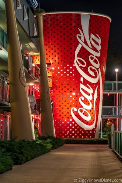 Coca Cola Bottle at night All-Star Sports Resort Disney World