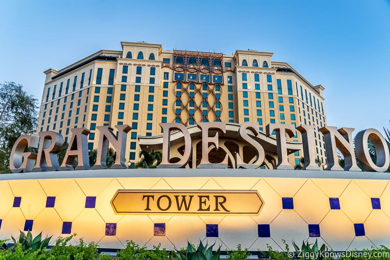 Gran Destino Tower front sign