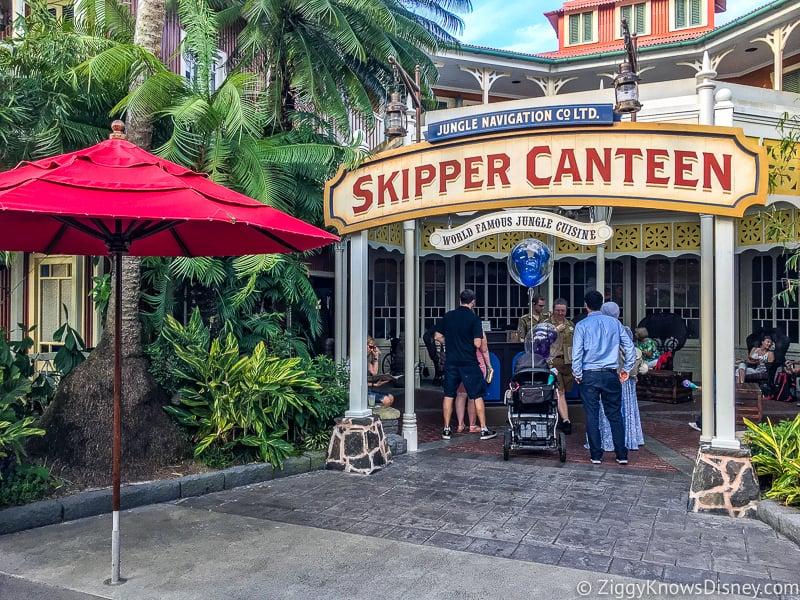 Outside Skipper Canteen in Magic Kingdom Restaurants