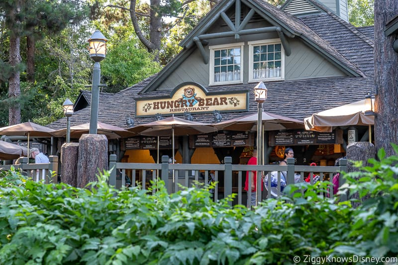 outside the Hungry Bear Restaurant Disneyland