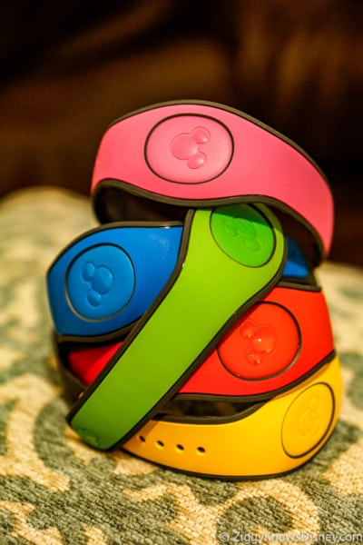stack of colored MagicBands