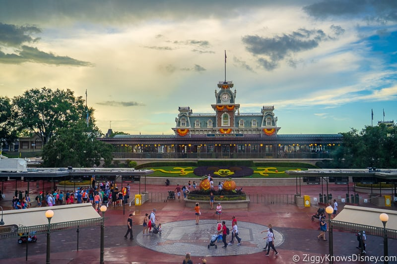 Magic Kingdom entrance and train station from Monorail