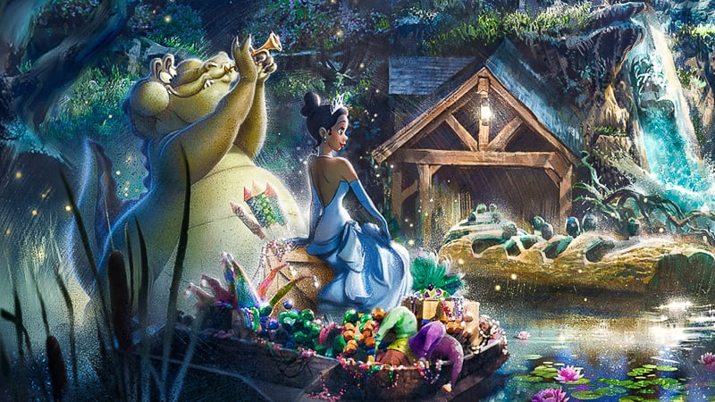 Princess Tiana ride concept art