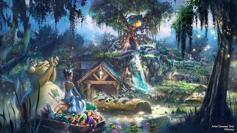 Splash Mountain Retheming Princess and the Frog