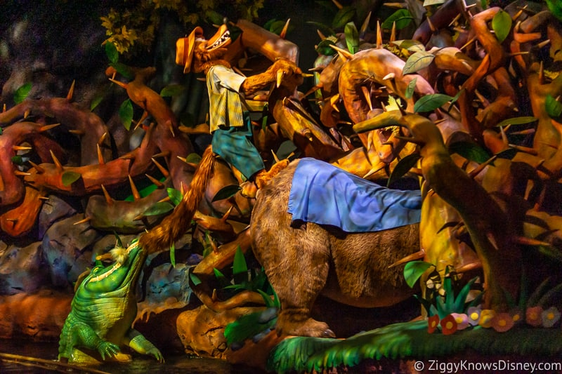 Brer Fox and Brer Bear with Crocodile Splash Mountain