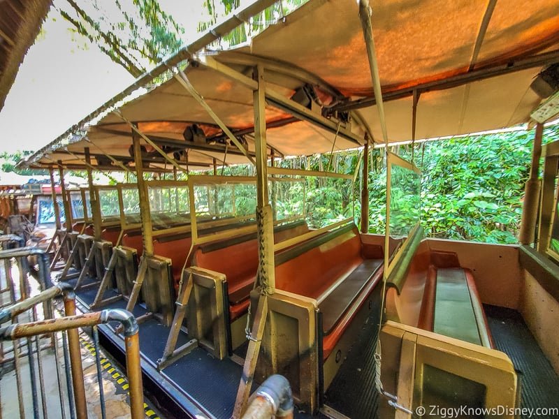 Kilimanjaro Safaris ride vehicle plexiglass Animal Kingdom