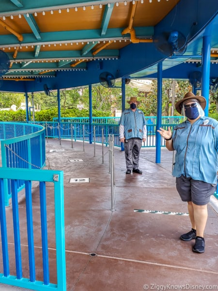 Cast Members with face masks in Disney's Animal Kingdom