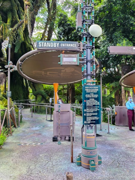 Standby entrance outside Flight of Passage