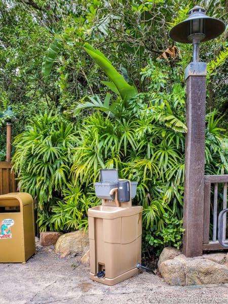 Hand washing station at Animal Kingdom