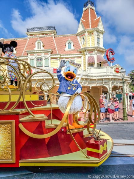 Mickey and Friends Character Cavalcade Magic Kingdom