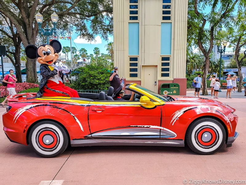 Mickey Mouse in car Mickey & Friends Motorcade Hollywood Studios