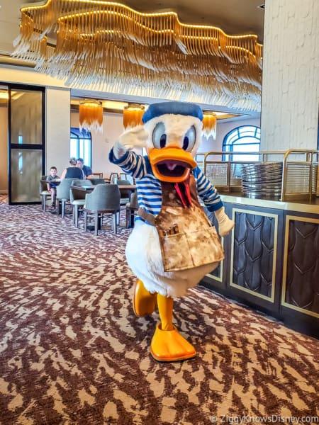 Artist Donald Duck Topolino's restaurant
