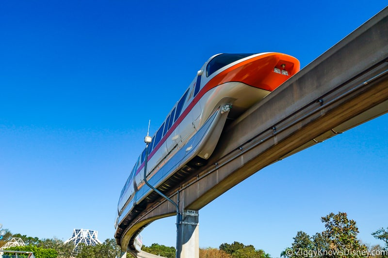 Disney World Transportation monorail system