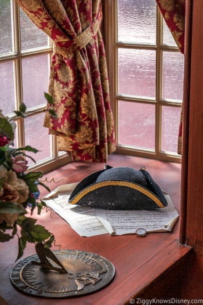 hat in the window at Liberty Tree Tavern