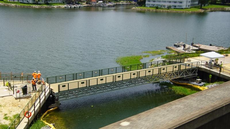 Pivot bridge for Grand Floridian to Magic Kingdom Walkway