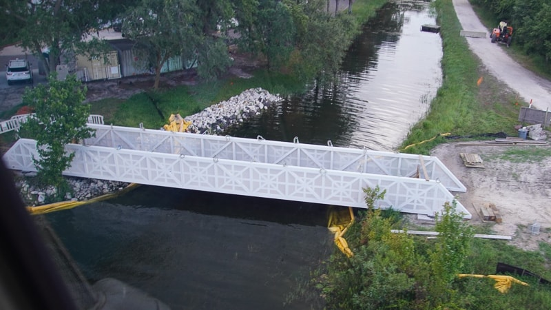 Second bridge for Grand Floridian to Magic Kingdom Walkway installed July