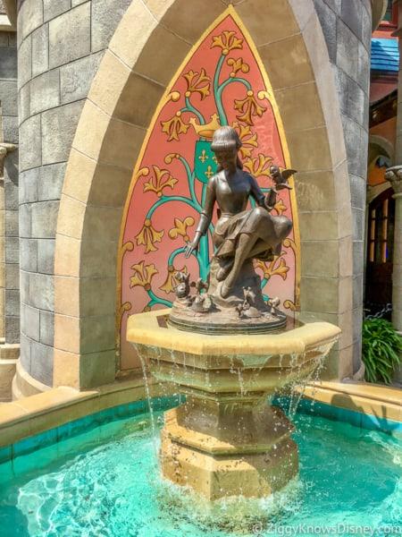 Cinderella fountain Magic Kingdom