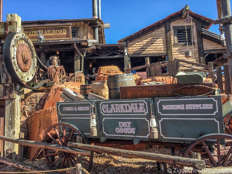 Big Thunder Mountain Railroad queue props Magic Kingdom