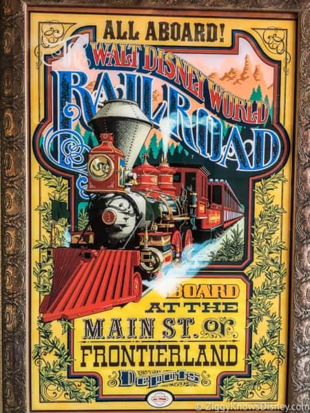Walt Disney World Railroad poster Main Street Tunnel Magic Kingdom