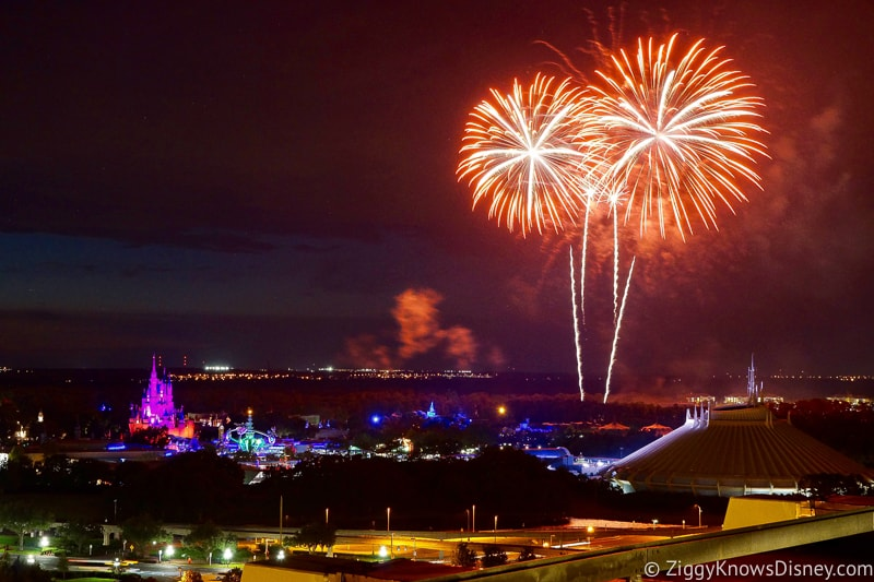 Fireworks over the Magic Kingdom from California Grill