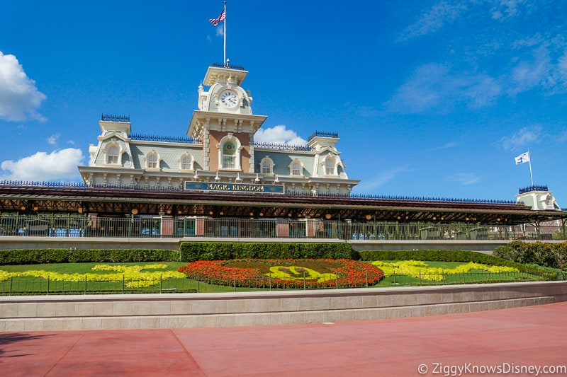 Magic Kingdom train station entrance