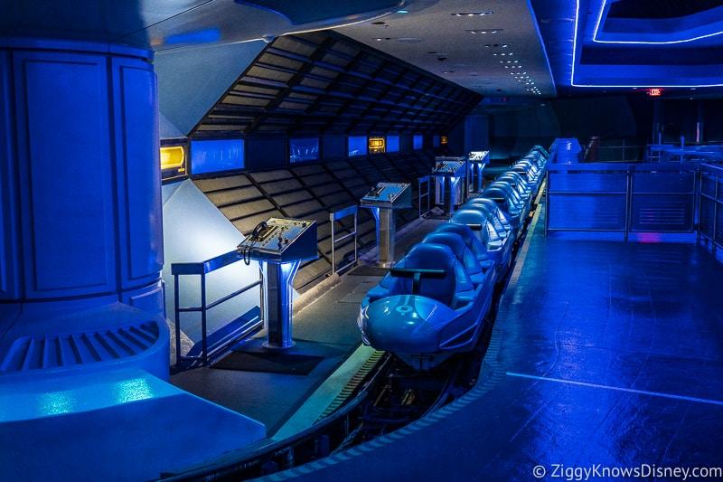 Space Mountain train loading area Magic Kingdom