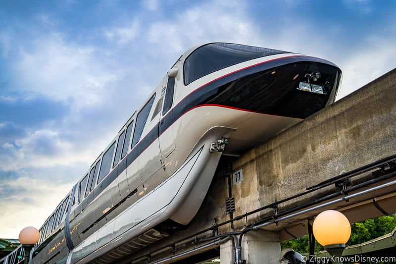 Black Disney World Monorail overhead