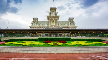 Disney's Magic Kingdom as a storm is coming