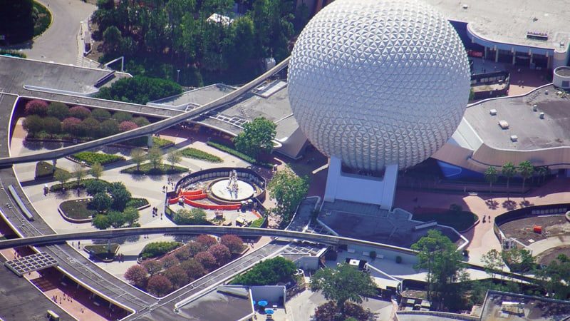 Epcot Entrance Construction August 2020 1