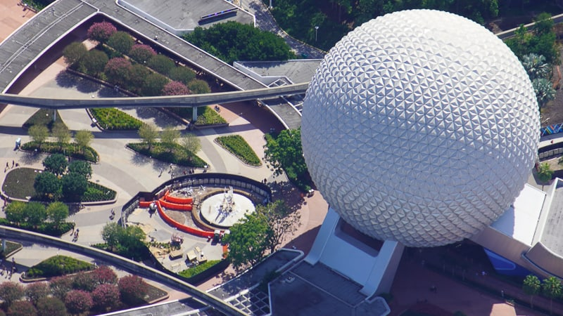 Epcot Entrance Construction August 2020 Aerial photo