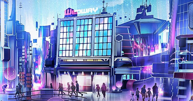 WEDway building in Play! Pavilion concept art