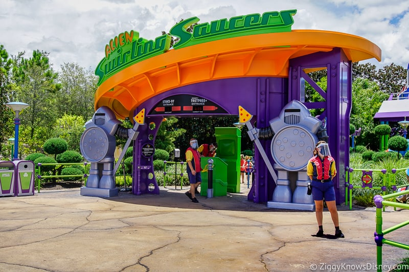 Alien Swirling Saucers entrance Hollywood Studios Reopening