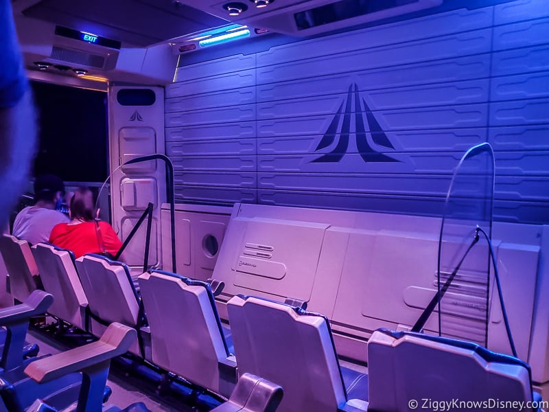 Star Tours the Adventures Continue ride vehicle with dividers